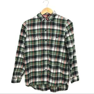 Madewell Ex-Boyfriend Plaid Flannel Shirt S C2